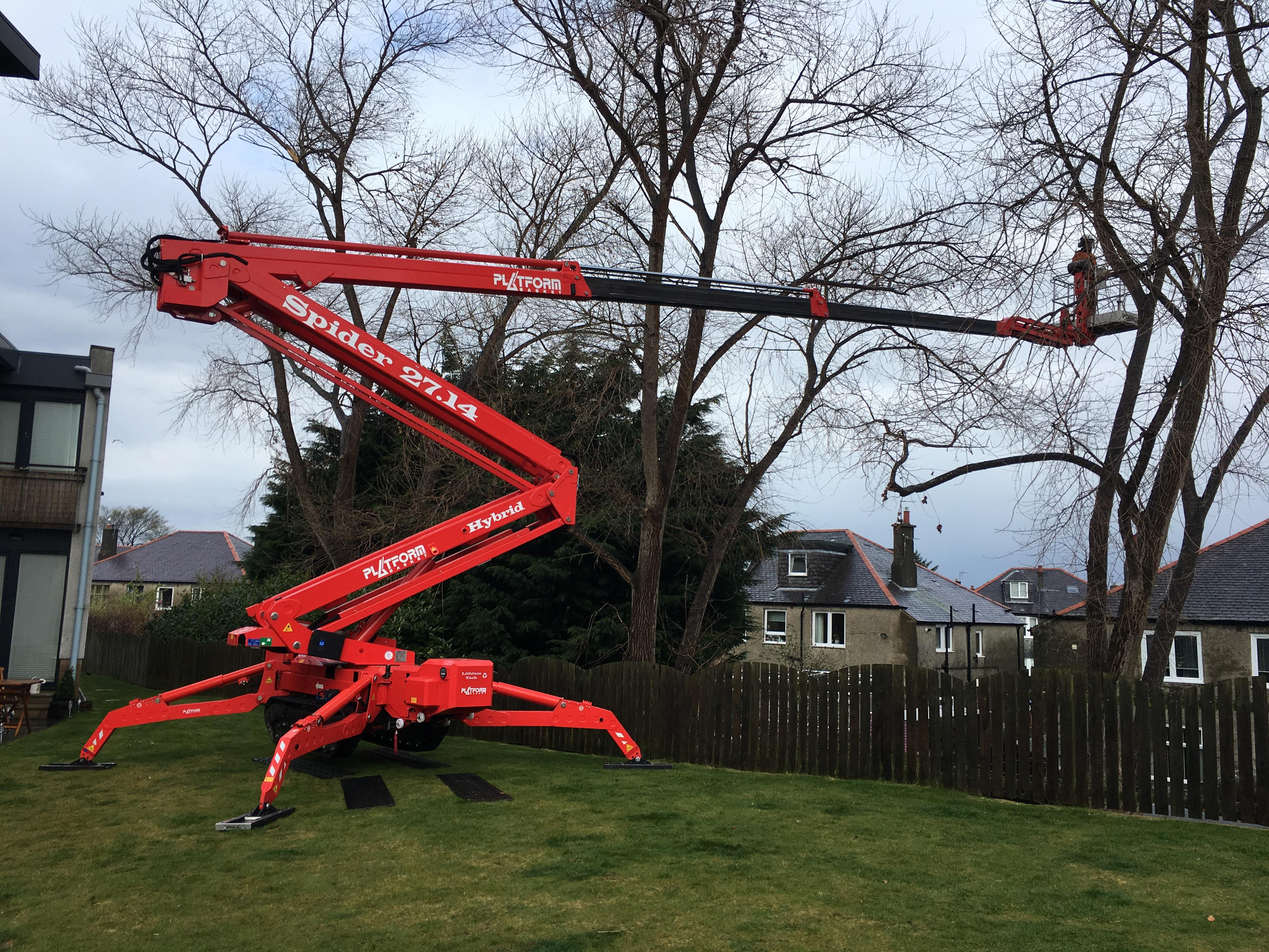 Forestry access platform Spider 27.14 long boom access