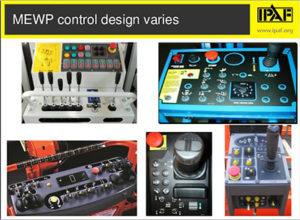 Varying MEWP controls