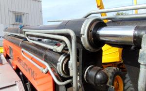Reedyk C3410 compact crane flexible knuckle boom