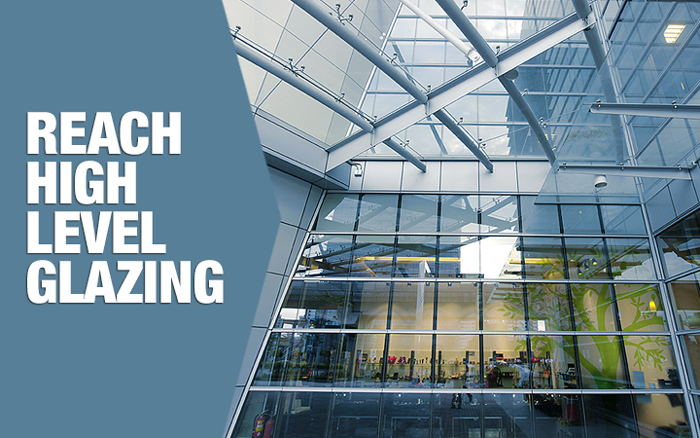 high level glazing - cleaning glass structures at height